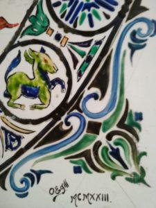 Egill - firma quadre de ceràmica